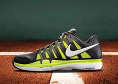 9945892b6bb10 Nike Zoom Vapor 9 Tour SL Anthracite Black Cyber White - worn by Federer in  French Open 2012