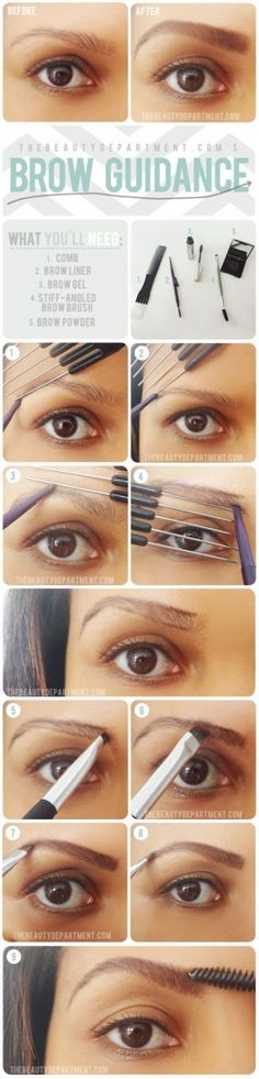 Brow guidance eyebrow shaping.