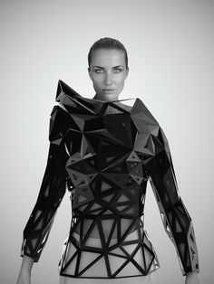 Architectural Fashion with graphic shapes & structured 3D silhouette; geometric fashion // Levente Gyulai