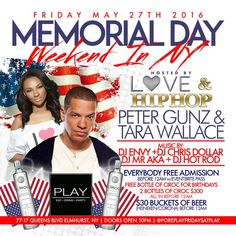 Foreplay Friday Presents Memorial Weekend Friday Hosted By Love & Hip Hop New York's Peter Gunz & Tara Wallace @ Play Lounge Friday, May 27, 2016 « Bomb Parties – Club Events and Parties – NYC Nightlife Promotions