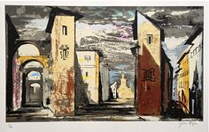 John Piper Street Scene from Don Giovanni (1989, designed in 1951)