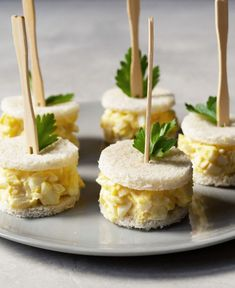 A classic egg salad sandwich can be found on many afternoon tea menus. Make this simple yet delicious egg salad tea sandwich for your next tea party. Mini Egg Salad Sandwiches Classic and traditional, egg Best Egg Salad Recipe, Easy Salad Recipes, Brunch Recipes, Appetizer Recipes, Brunch Food, Appetizers, Tea Party Sandwiches, Egg Salad Sandwiches, Easy Egg Salad