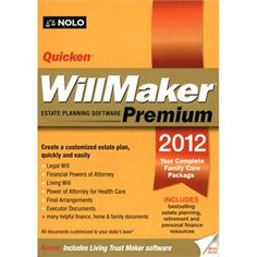 Quicken Will Maker Premium 2012 - Business Planning Retail - CD-ROM - PC - WQP12R3  List Price:  $79.99  (Save 81%)  Today  $14.99  Free Budget Shipping  EARN 15 SUPER POINTSWhat's this?  Condition:  Brand New  In Stock: Usually Ships within 24 hours