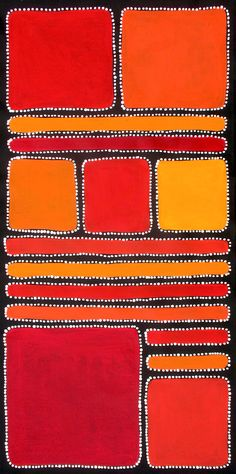 Aboriginal Artwork by Sally Clark. Sold through Coolabah Art on eBay. Cataogue ID 15424