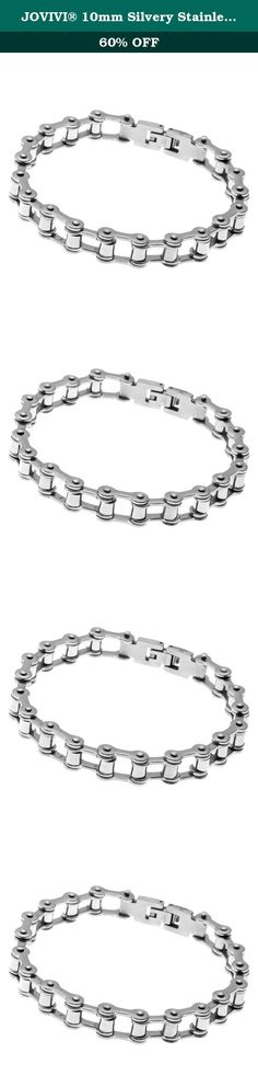 JOVIVI® 10mm Silvery Stainless Steel Motorcycle Bike Chain Bracelet for Men 8.5''L. *Thank you for visiting JOVIVI Store. We are specializing in jewelry making beads and findings. *If you like this product, we advise you add it to wish list now, so that we will inform you immediately once it has a discount. *And you can click our brand name which on the top of the title; you can find more jewelry making beads with high quality and reasonable price. *If you have any question or advice…