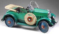 An outstanding Gendron Packard pedal car from the 1920s with classic styling