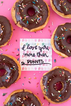 I Love You More Than Donuts (Free Printable!)