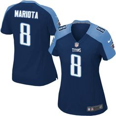 Marcus Mariota Women s Elite Navy Blue Jersey  Nike NFL Tennessee Titans  Alternate  8 Bruce 06c63ae67