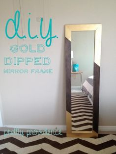DIY Mirror Frame DIY