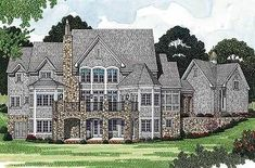 Luxury with Separate Guest House - 17526LV | 1st Floor Master Suite, Bonus Room, Butler Walk-in Pantry, Corner Lot, Den-Office-Library-Study, European, In-Law Suite, Jack & Jill Bath, Luxury, Media-Game-Home Theater, PDF, Photo Gallery, Sloping Lot, Traditional | Architectural Designs