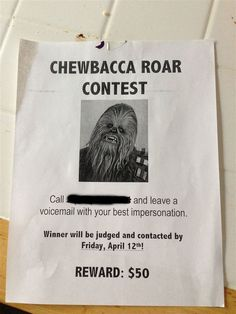 chewbacca contest poster