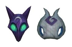 League of Legends - Kindred Wolf and Lamb Mask Papercrafts Free Download