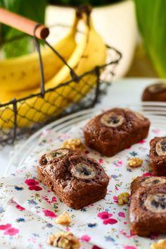 Cakes moelleux au chocolat, banane et noix   Cuisimiam