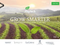 Phytech help growers to understand their plants with web and mobile application, using special sensors attached to the plant, fruit, ground and. Beautiful Web Design, Best Web Design, Agricultural Practices, Web Design Projects, Responsive Layout, Web Design Inspiration, Cool Websites, Green Colors, Design Elements