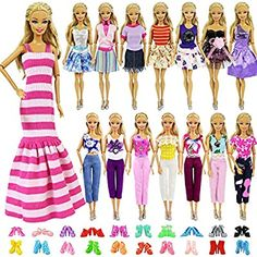 SOTOGO 28 Pieces Kens Clothes and Accessories for 12 Inch Boy Doll Include 8 Sets Doll Clothes//Casual Wear Clothes//Different Outfit and 6 Pairs Shoes