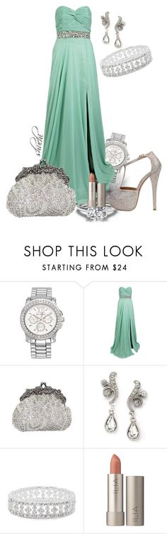 """""""Fit For Royalty"""" by shuchiu ❤ liked on Polyvore featuring Juicy Couture, Jovani, Swarovski, 1928, Jon Richard, Ilia, Steve Madden, dresses, Gowns and mint"""