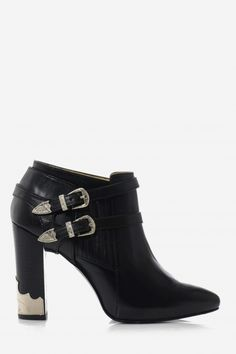 TOGA PULLA ANKLE BOOTS WITH BUCKLES BLACK @ www.ingridshop.com