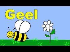 ▶ Kleuren leren peuters kleuters Bloemetje Vlinder - YouTube