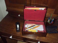 ANTIQUE-ENGLISH-MAHOGANY-DOCUMENT-WORK-BOX-BRASS-INLAY