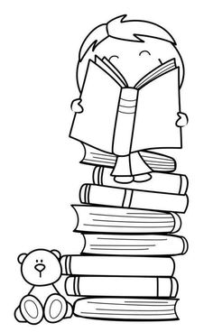 I read and you paint me & Yo leo y tu me coloreas (autor desconocido) Colouring Pages, Coloring Sheets, Adult Coloring, Coloring Books, Digi Stamps, Love Book, Clipart, Bookmarks, Embroidery Patterns