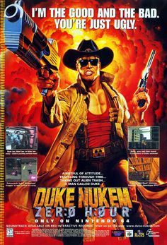 Duke Nukem Zero Hour Nintendo N64 game ad