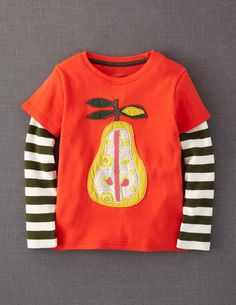Retro Appliqué T-shirt. I know this is probably for a little girl but I really want one for me!