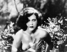 Hedy Lamarr in Ekstase (Ecstasy) (1933) a Czechoslovakian romantic drama that was notorious and scandalous at the time of its release due to the sexuality. It was censored for Hedy Lamarr's nude bathing swim, naked forest romp through the trees, and love-making scene. It was also confiscated by the Treaty Department of the US when it was first imported, and was the first film to be blocked for censorship purposes.