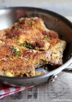Côtes de porc panées