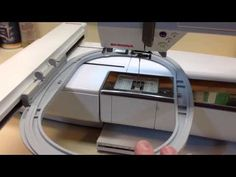 Bernina 200 730 How to test your embroidery module. - YouTube