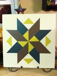 Barn Quilt Pattern Wooden Handmade Wooden by TheWillowWorkshop, $40.00.