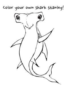 hammerhead shark coloring page unit studies sharks pinterest