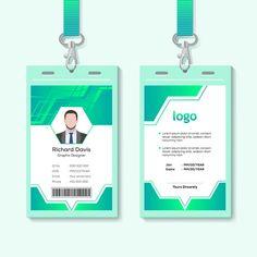 قالب تصميم بطاقة الهوية للشركات المتجهات Id Card Template, Logo Design Template, Card Templates, Business Card Psd, Elegant Business Cards, Identity Card Design, Employee Id Card, Company Id, Member Card