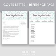 "Resume Reference Page Template Resume Template ""christina Yang""  Cover Letter  Reference Page"