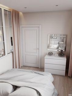Zhemchuzhnyy Fregat — 60m | Гармоничный интерьер в ЖК Жемчужный фрегат Home Bedroom, Modern Bedroom, Bedroom Styles, Inspired Homes, Home Decor Kitchen, Beautiful Interiors, Home Organization, My Room, New Homes