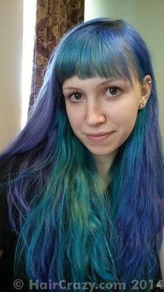 Manic Panic Lie Locks & Atomic Turquoise in hair.