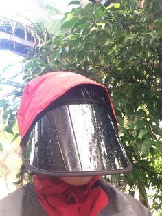 Dr Serene's SUNVISOR is ideal for walks in the rain!
