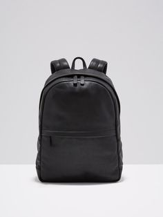 FRANK + OAK The Boulevard Leather Backpack in Black. #frank+oak #bags #leather #lining #nylon #backpacks #