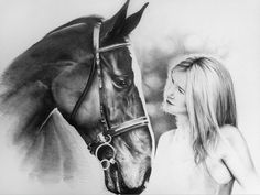 Horse charcoal art by Chaz Williams.