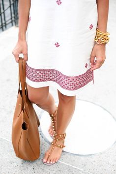white + embroidered