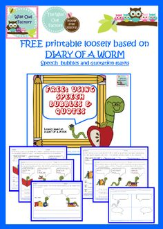 Diary of a Worm / Earthworms - Free Printable