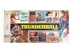 James Bond 007 Thunderball Board Game, Vintage Milton Bradley Game by FoxLaneVintage on Etsy