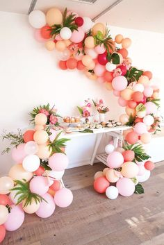Learn how to make a colorful DIY balloon garland of your own with a little help from these easy tutorials. Explore 16 different fun balloon decorations to find the perfect theme for your next summer party. Try wearing Poise® pads and liners while crafting to keep bladder leaks from getting in the way of your creative flow. #diypartydecors
