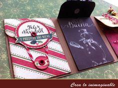 Hermosa cuponera la que te traemos, un regalo increíble para que des opciones para intercambiar en #navidad y no olvides participar en este mes te traemos unos sellos de regalo !!!  http://crea-lo-inimaginable.blogspot.mx/2015/12/cuponera-de-navidad.html #scrapbook #manualidades #crafting #scrapbooking #texturarte