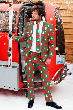 These tacky Christmas sweater suits are out of control.