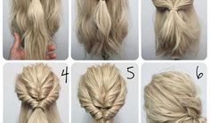 Trendy wedding hairstyles how to diy updo 46 ideas – Hair Styles Updos For Medium Length Hair, Up Dos For Medium Hair, Medium Hair Styles, Natural Hair Styles, Messy Wedding Hair, Simple Wedding Hairstyles, High Bun Hairstyles, Diy Hairstyles, Hairstyle Tutorials