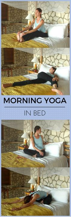 Morning Yoga Routine in Bed! http://vid.staged.com/uwXs