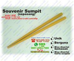 sumpit souvenir putih