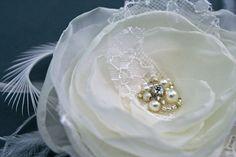 IVORY Bridal Flower Hair Accessory #wedding #bridal #headpiece #flower #hairpiece