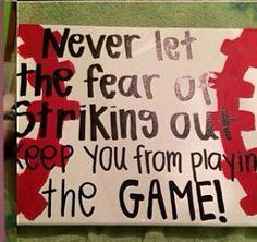 For my baseball player boyfriend ! Birthday, valentines,  senior night ?