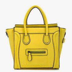 $89.00 Bagqueen 100% Genuine Leather Smile Handbags Smile Face- buy it here ! #bags #chicforme.blogspot.com